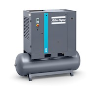 G22-175 FF, 208-230/460 Volt (V) Voltage, and 132 Gallon (gal) Tank Mounted Rotary Screw Air Compressor